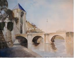Le pont de Moret-sur-Loing par Sisley
