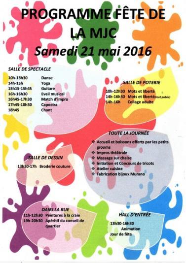 Programme fete mjc village 21 mai 2016 2